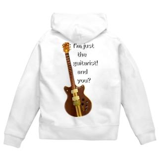 『日日彼是色々面白可笑し。』(にちにちあれこれいろいろおもしろおかし。)ひざ通商。 IN SUZURIのI'm just the guitarist! and you? GOh.t.  Zip Hoodie