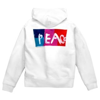 eri's Art love & peace FactoryのUism-01 Zip Hoodies