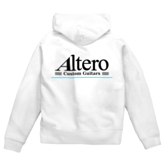 Altero Custom Guitars02(淡色向け) Zip Hoodies