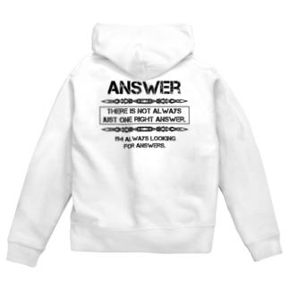 Answer Zip Hoodies