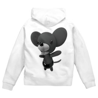 ハッピーマウス Zip Hoodie
