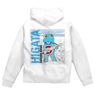HIGATAと超魚 Zip Hoodies