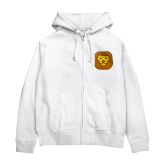 willnetのSavanna lion face Zip Hoodies