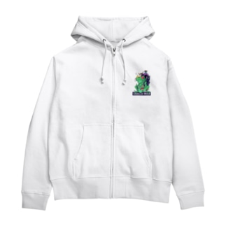 LEGALIZE IT FROG (SH11NA WORKS) Zip Hoodies