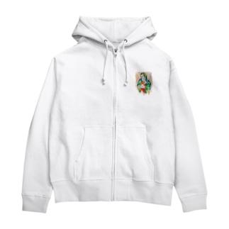 #420 - Stoned Mary復刻版 Zip Hoodies