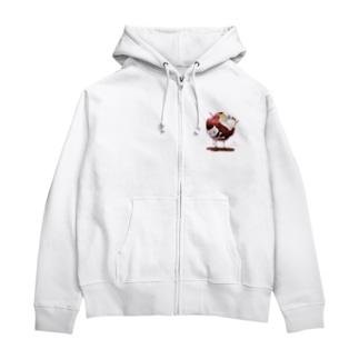 白猫姫(ワンポイントver.) Zip Hoodies