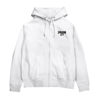 SHINAGAWA CITY(BK) Zip Hoodies