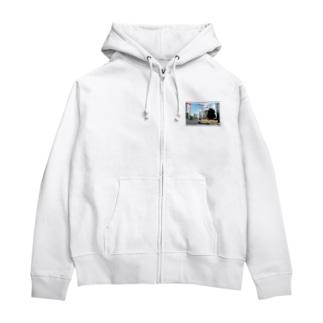 東京都:東京スカイツリー★白地の製品だけご利用ください!! Tokyo: Tokyo Skytree from Asakusa★Recommend for white base products only !! Zip Hoodies