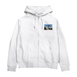 日本の城:忍城★白地の製品だけご利用ください!! Japanese castle: Oshi Castle/ Gyoda★Recommend for white base products only !! Zip Hoodies