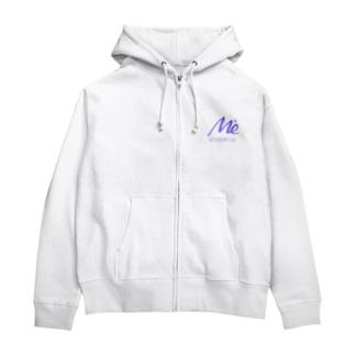 MESARION+ロゴ文字切り抜きVer(紫) Zip Hoodies