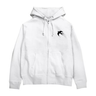 燕(ツバメ) Zip Hoodies