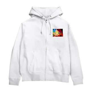 紫陽花 Zip Hoodies