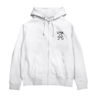 UMA 宇宙人 Zip Hoodies
