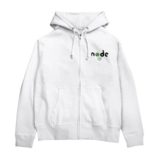 node.jsグッズ Zip Hoodies