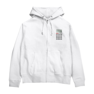 Calculator / 電卓 Zip Hoodies