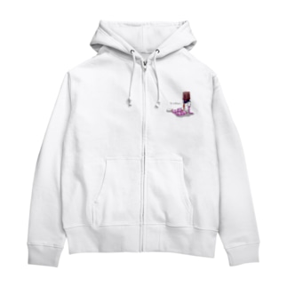 女学生 Zip Hoodies