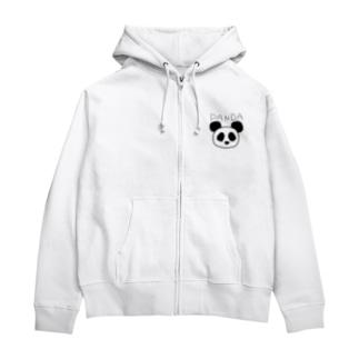 PANDA Zip Hoodies