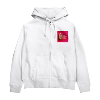 FUCHSGOLDのアヴェ・マリアの祈祷文  Hail Mary / Ave Maria Zip Hoodies