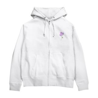 バラの花 Zip Hoodies