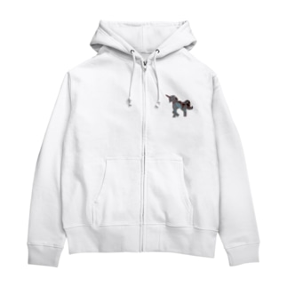 Aqua UNICORN Zip Hoodies