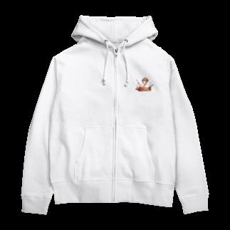 オリジナル雑貨店『ホットドッグ』の着物美人 『冬』 Zip Hoodies