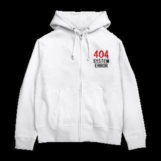 アメリカンベースのシステムエラー 404 Zip Hoodies