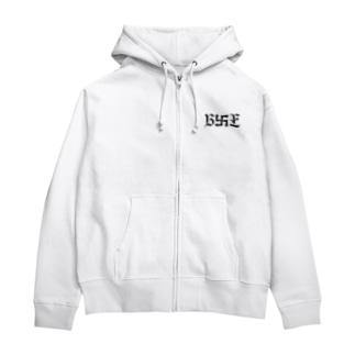 B卍Eデザイン 黒 Zip Hoodies