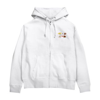 kururu9999のIラブファミリーDOG! Zip Hoodies