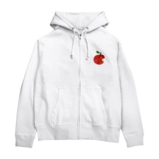 りんご Zip Hoodies