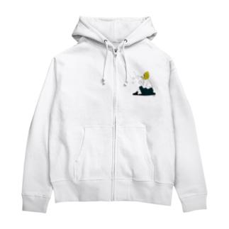 Lemon Girl B Zip Hoodies