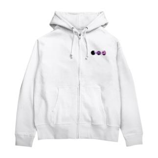 紫陽花。 Zip Hoodies