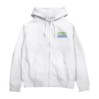 カラーコード Zip Hoodies