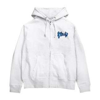 微分ロゴ Zip Hoodies
