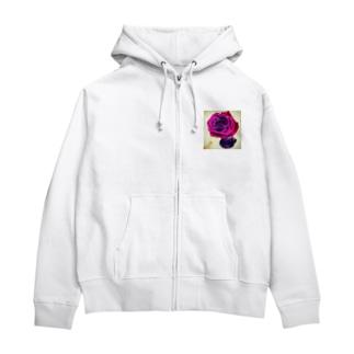 roses Zip Hoodies