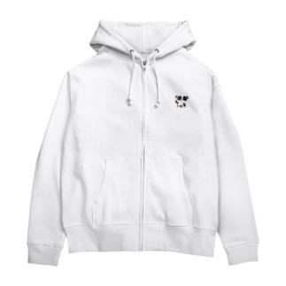 TK-marketの愛想が良い パンダ Tシャツ Zip Hoodies