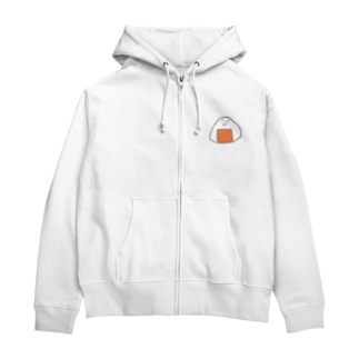 Orange rice ball boy Zip Hoodies