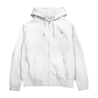 Mのうさぎ Zip Hoodies