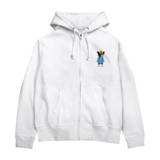 いちごちゃん(幼稚園児バージョン) Zip Hoodies