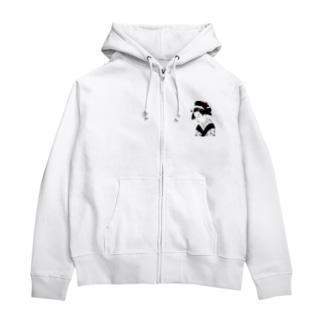 TK-marketの江戸 Tシャツ Zip Hoodies