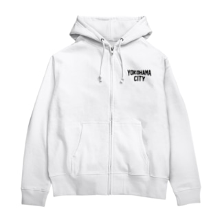 横浜 横浜市 YOKOHAMA CITY  Zip Hoodies
