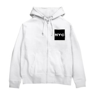 NYC melting Zip Hoodies