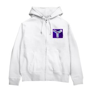 symbol Zip Hoodies