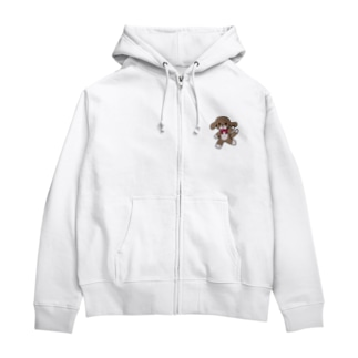 踊る犬 Zip Hoodies