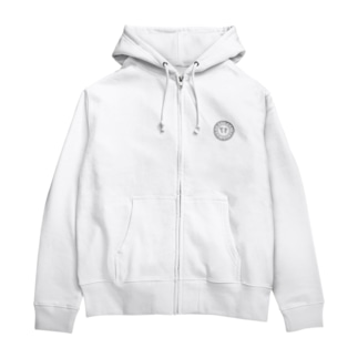 ロゴ(灰) Zip Hoodies