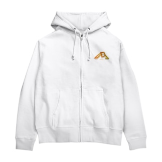 [新Miranhamロゴ] 白い商品専用のグッズ Zip Hoodies