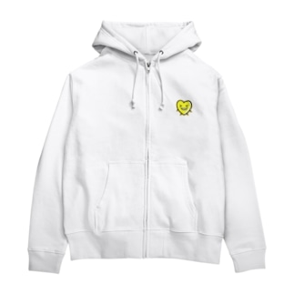 黄色ハツくんジップパーカー Zip Hoodies