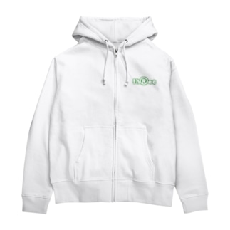 three LOGO NEON ForestGreen Zip Hoodies