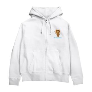 The Hungry Bear ロゴあり Zip Hoodies