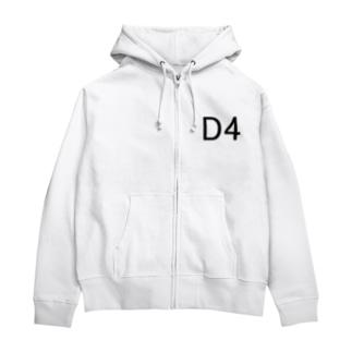 D4 Zip Hoodies