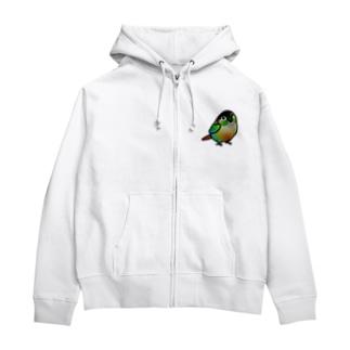 (両面) Chubby Bird ウロコインコ Zip Hoodies